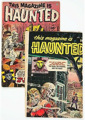 This Magazine Is Haunted #4 and 9 Group (Fawcett Publications, 1952-53)....