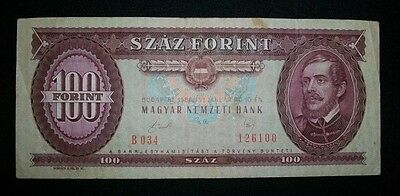 Hungary 100 Forint 1989 Note