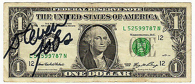 REPRINT RP Signed Autographed Steve Jobs, APPLE on a REAL US Dollar Bill