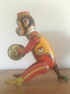 Vintage  Wind-up  Monkey Figure Toy
