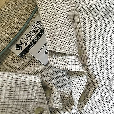 COLUMBIA short sleeve checked button front shirt Mens size XL X-Large