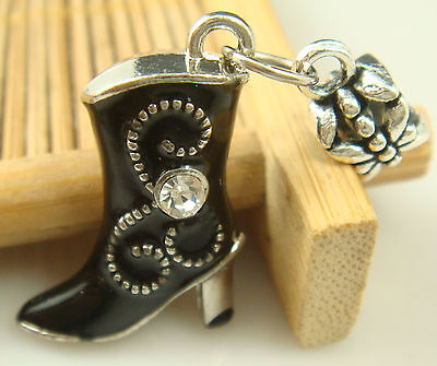 New European Silver Charm Bead Fit sterling 925 Necklace Bracelet Chain US HcS1