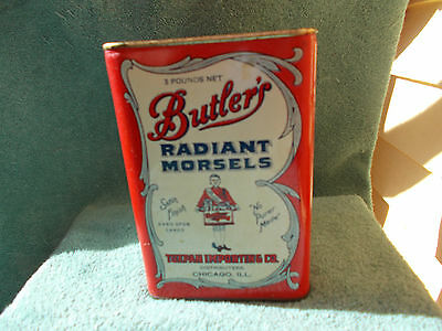SCARCE—3 lb. Butler's Radiant Morsels Candy Tin