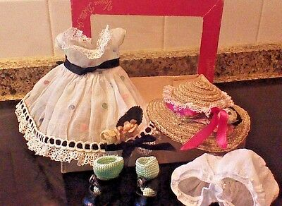"""Vintage Vogue STRUNG GINNY 1953 DEBUTANTE """"CATHY"""" Outfit w/CS SHOES in box!"""