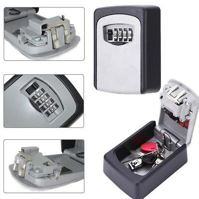 Wall Mount Key Box Home Security Custom Combination 4 Digit Lock Safe Storage