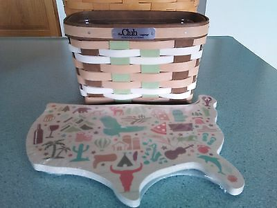 Longaberger 2017 Collector's Club Homestead Gathering event Basket set NEW