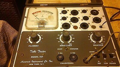 Vintage Accurate Instrument Company Tube Tester Model 157