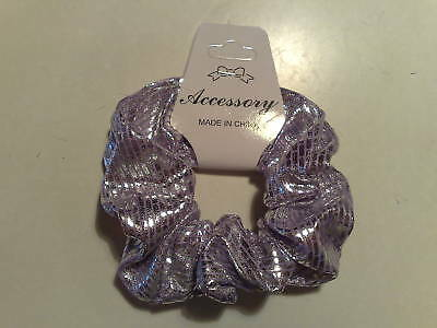 Wholesale 12 Purple Fabric Hair Scrunchies, Party Bag