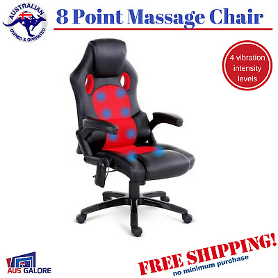 8 Point Massage Executive Office Computer Chair High Back PU Leather New
