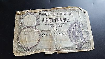 france algeria currency 20 francs f727