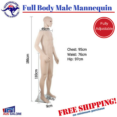 Full Body Dummy Male Mannequin Stand Shop Stall Clothing Window Display  Model