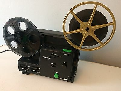 Keystone 2500 Dual 8mm Super 8/Standard 8mm Film Projector - Variable Speed BOX