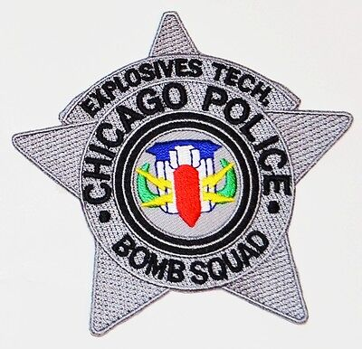 Chicago Police Explosives Tech Bomb Squad Patch