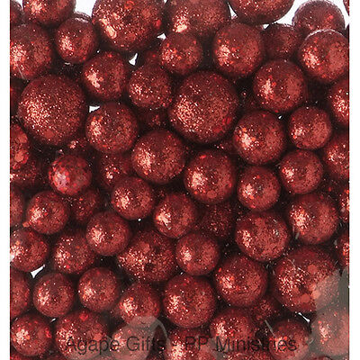 Darice Christmas Decor - Floral Foam Glitter Berries Ball Fillers RED #1189-83