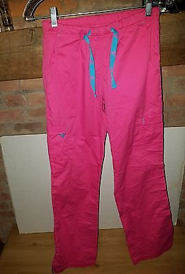Med Couture Women's Drawstring Scrub Pants Size X-Small E-Z Flex Pink