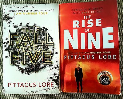The Rise Of Nine + Fall of Five By Pittacus Lore (Lorien Legacies Books 3 & 4)
