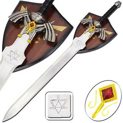 Zelda Twilight Princess Fantasy Video Game Sword With Wall Plaque SI15903-4/GB2