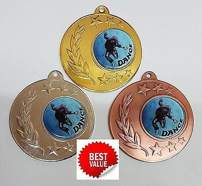 1 x 50mm  DANCE MEDAL,TROPHY,AWARD,Free engraving,Free ribbons