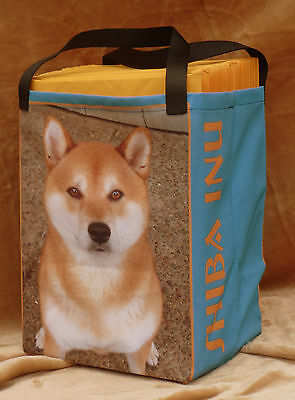 Awesome Shiba Inu Tote Bag, washable, removeable stiff bottom, handmade in USA