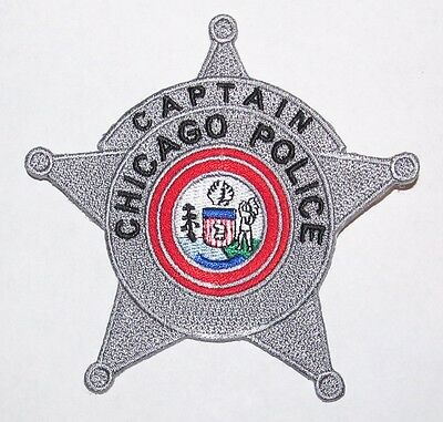 Chicago Police Captain Rank Star Patch