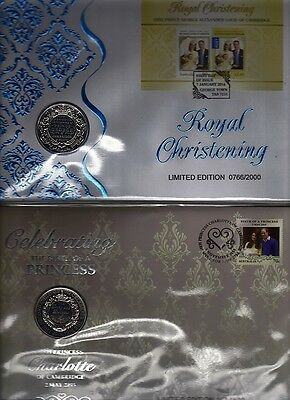 Pair Of Royal Christening Pncs Limited Editions At Cost