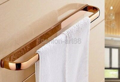 Rose Gold Copper Wall Mounted Bathroom Single Towel Bar Rack Holder fba867
