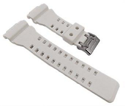 16mm White Rubber Watch Band Fits CASIO GA-100 G-Shock GA-110 GA-