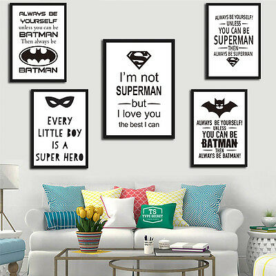 You Can Be Batman Art Print Poster No Frame Superman Painting Home Wall Decor
