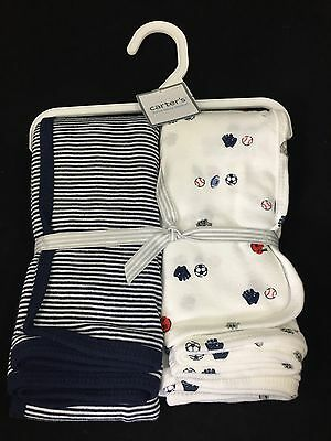 Carter's Baby Boy Blanket Sports And Stripes Swaddle Blankets