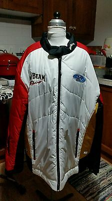 """Great one for dad 3XL""""JIM BEAM & FORD"""" SUPERCARS RACING  PADDED JACKET NWOT"""