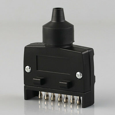 7-Pin Flat Male Trailer Plug Adapter Truck Light Connector Plug