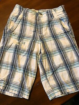 Boys blue abd white shorts 4T