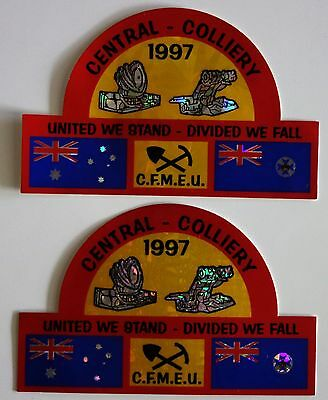 Central Colliery Mining Sticker Pair