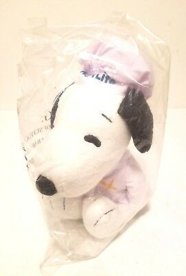 """Rare Metlife Peanuts Snoopy Chef With Jacket & Hat 7"""" Stuffed Animal Plush Toy"""