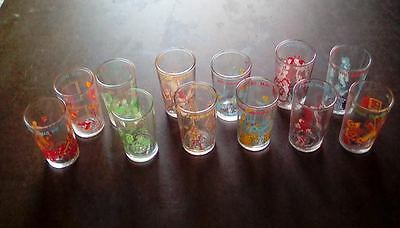 Vintage Archie Jelly Glasses! Full set of 12! Very Rare!