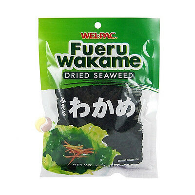 Wel-Pac Dried Cut Seaweed wakame Natural Dried Seaweed Miso Salad Japanse 453g