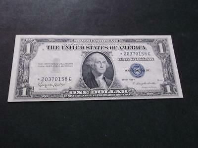 Usa 1 Dollar 1935 H  Star Banknote  Great Condition   A1485