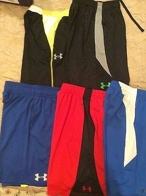 Lot 5 Boys UNDER ARMOUR  Athletic Shorts YSM Small 8