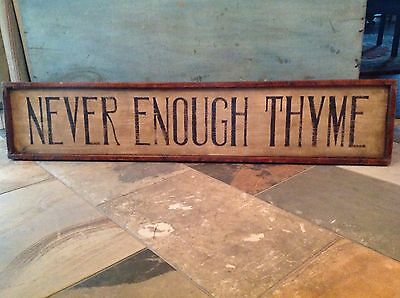 Early Antique Handmade Primitive Style Wooden Board Framed Sign