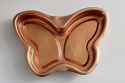 Vintage Retro Anodised Butterfly Cake Tin - Peach - Strong Lite - GVC
