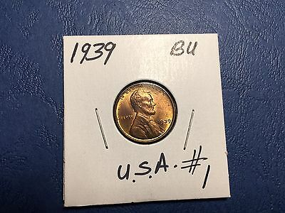 1939 Lincoln Wheat Penny .