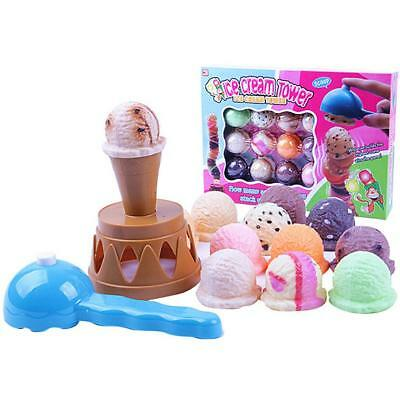 Yummy Flavor Ice Cream Cake Chocolate Cone Scoop Kids Pretend Play Food Toy