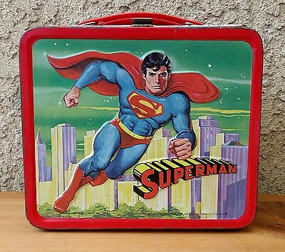 SUPERMAN Lunchbox 1978 By Aladdin Chris Reeves Marot Kidder Images (No Thermos)