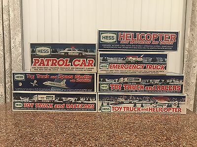 Lot of 7 Hess Trucks NIB Plus Extras