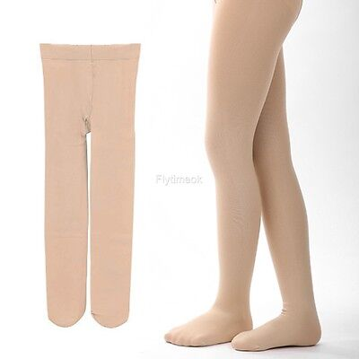 Children's Girls Ballet Dance Tights Footed Seamless Solid Stockings FTMK01