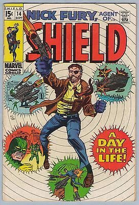 Nick Fury Agent of SHIELD 14 Sep 1969 VG+ (4.5)