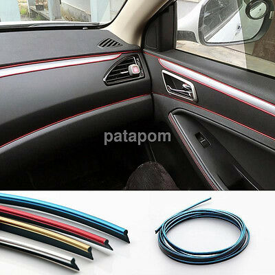 3/5M Car Grille Interior/Exterior Decoration Chrome Styling Molding Trim Strip