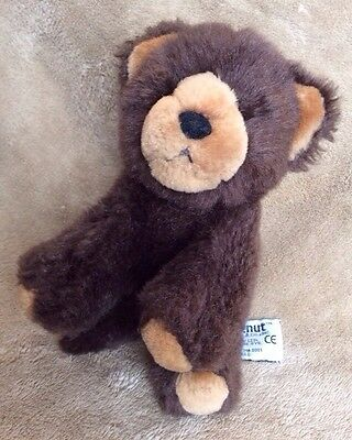 Chestnut Brown Teddy Bear Russ Berrie Soft Toy Stuffed Animal Mini Plush Figure""