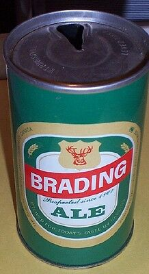 """BRADING ALE  Beer Can**""""Respected since 1867""""**Old Steel Pull Tab** from CANADA"""