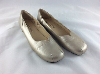 DAVID TATE ROYAL Women Gold Leather Rounded Toe Ballet Loafer Flats Shoe 8